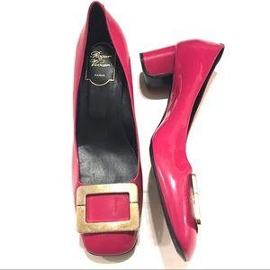 Roger Vivier Women's Pink Buckle Heels Size 39.5